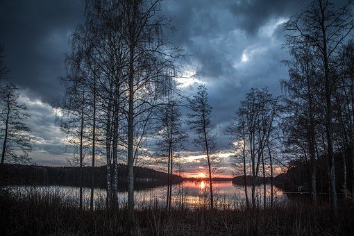 Lake Scenery, Finland, Spring
