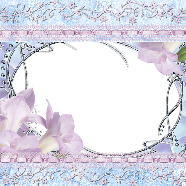 Free Illustration Background Lilac Blue Lily Free