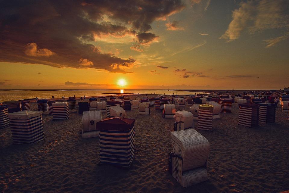 Strandkorb sonnenuntergang  Borkum Sonnenuntergang · Kostenloses Foto auf Pixabay