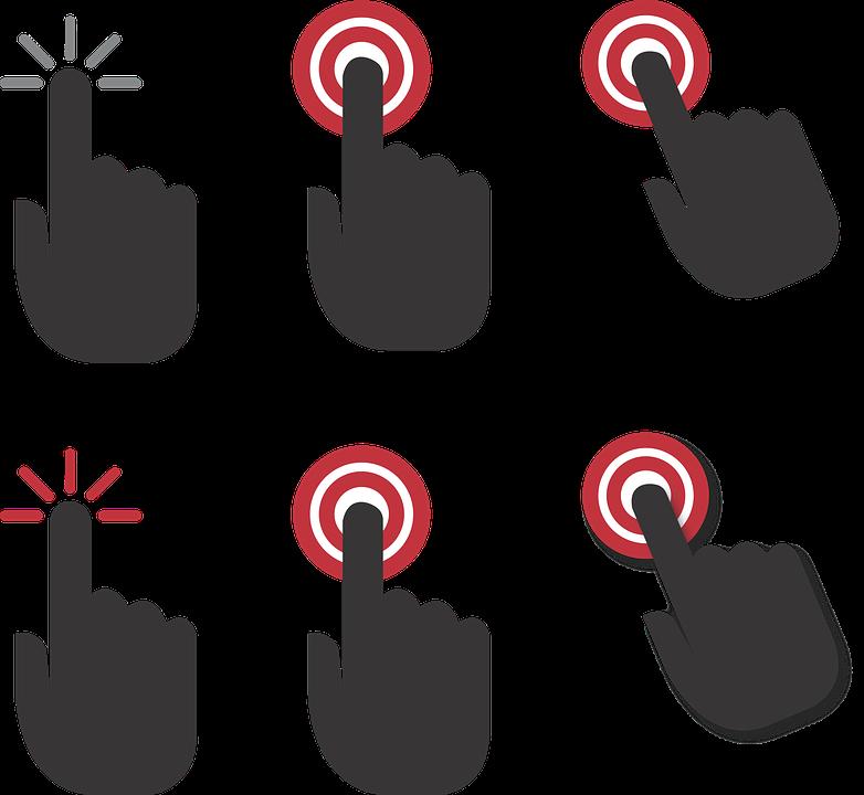 Gratis vectorafbeelding hand klik klik hier vinger gratis