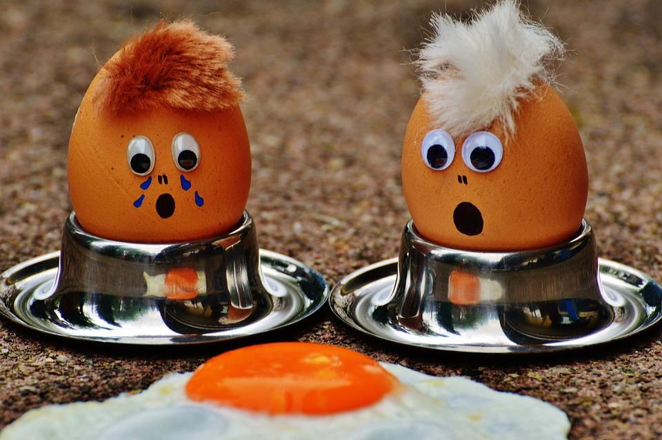 卵, 油で揚げた, 喪, 楽しい, おかしい, かわいい, 食品, 卵黄, 揚げ卵, タンパク質
