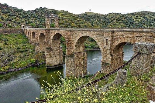 Bridge, Alcantara, Roman, Historic