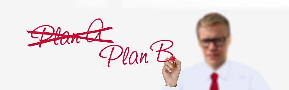 Negocios, Empresario, Plan De Un, Plan B, Éxito, Equipo
