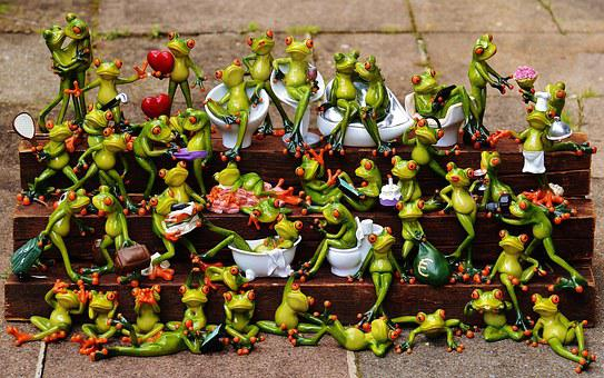 Frogs, Many, Frog Assembly, Cute