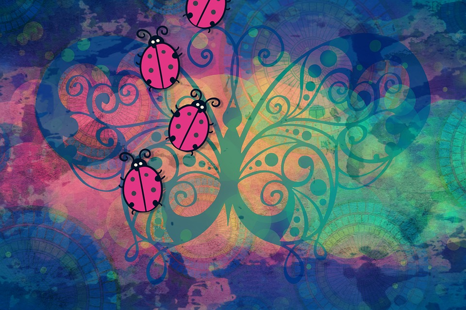 Background Colorful Bugs Screen · Free image on Pixabay