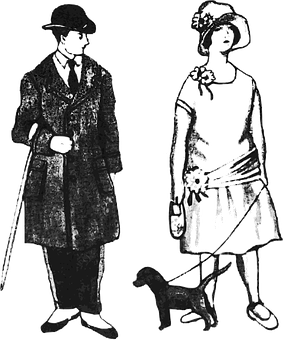 Casal, Mote, 1920, Hunden, Jente, Gutt