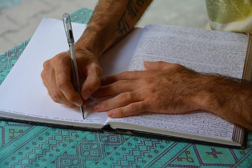 Mãos, Escrita, Palavras, Carta, Trabalho