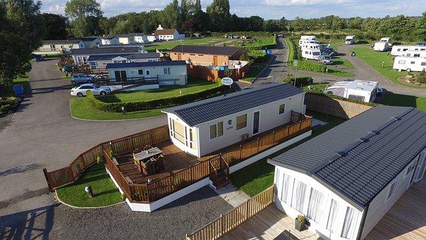 Aerial, Caravan Park, Caravan, Luxury