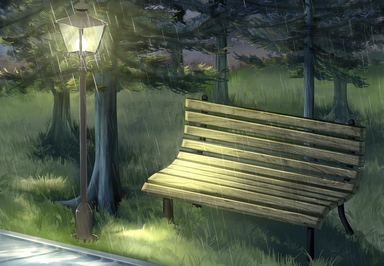 картинки скамейка и дождь вайи