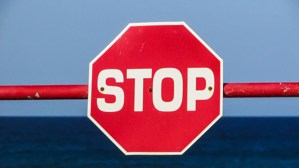 停止, 記号, 一時停止の標識, 赤, 警告, オクタゴン
