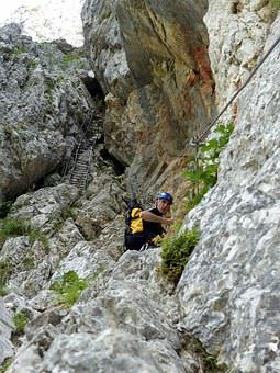 Via Ferrata, Climbing, Mountain, Hiking