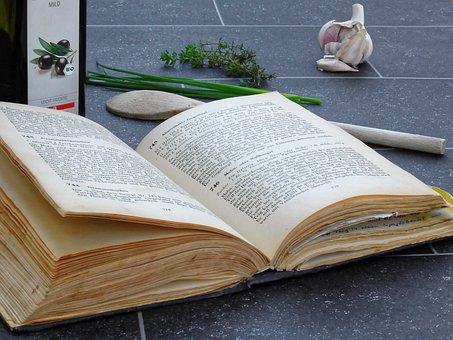 調理する, 料理の本, ページ, 恩恵を受ける, 食べる, 新鮮, 自家製