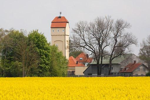 Water Tower, Oilseed Rape