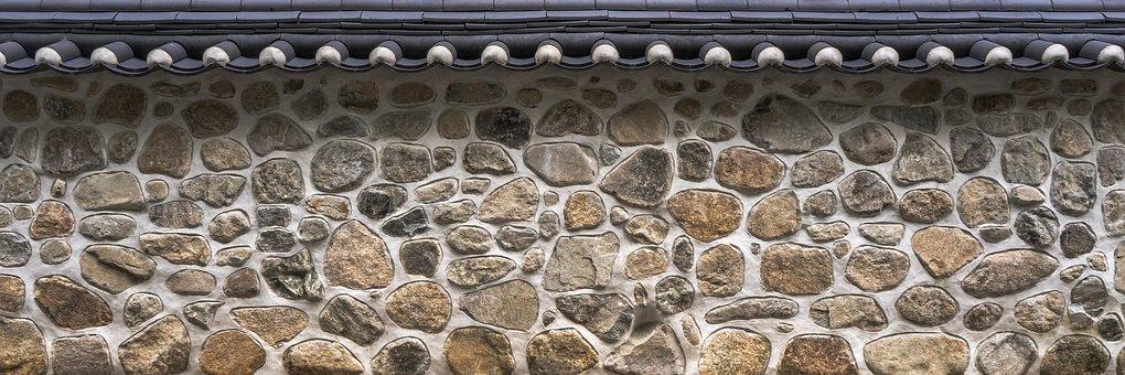 屋根瓦, 塀, 壁, 石, 石造りの塀, 灰色, テクスチャ, 背景, 構造