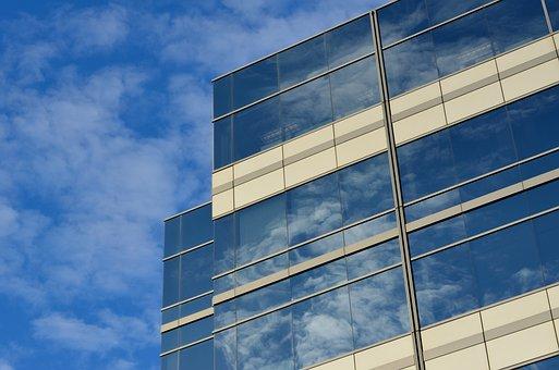 オフィス, 建物, クラウド, エンタープライズ, ビジネス, 市, 超高層ビル