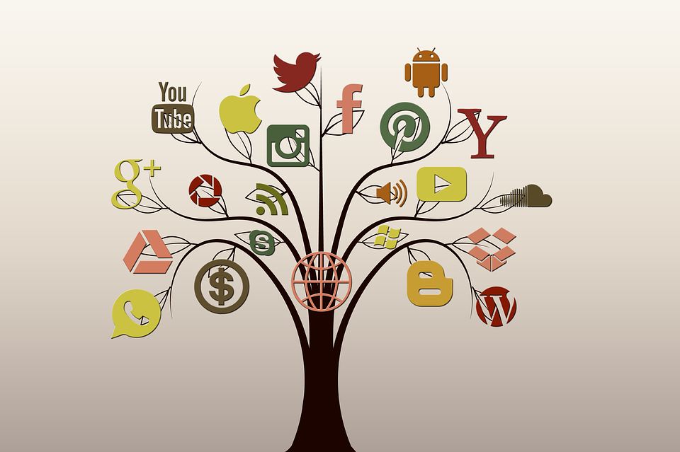 Kostenlose Illustration: Social Media, Baum, Struktur