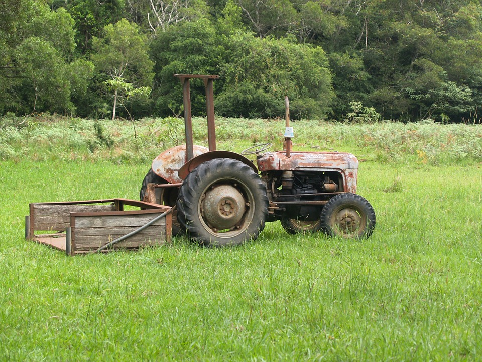 Old Farm Tractors : Free photo tractor old farm field image on