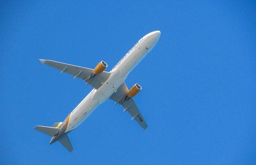 Avión, Que Vuelan, Por Encima De, Cielo