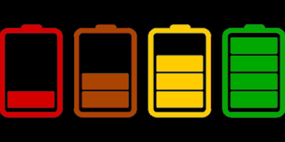 電池, 読み込み, アイコン, セット, フラット, 充電, バッテリー