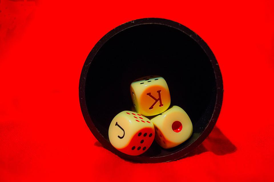 Dice, Goblet, Game, Red, Casino, Bet, As