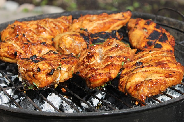 Free Photo Chicken Bbq Charcoal Grille Free Image On