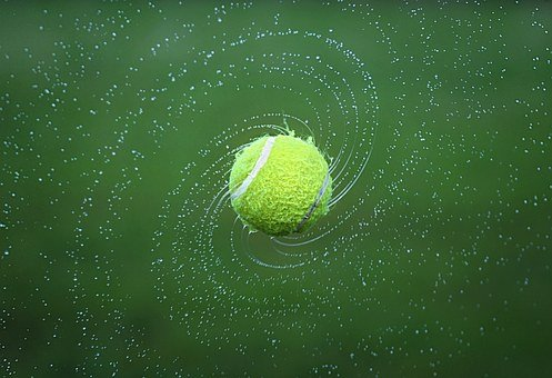 Tennis, Tennis Ball, Spinning, Ball