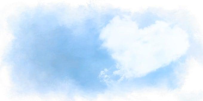 Heart, Clouds, Love, Romance, Heaven