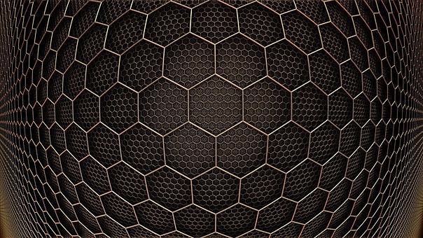 Background Texture Hexagon Grid 3D