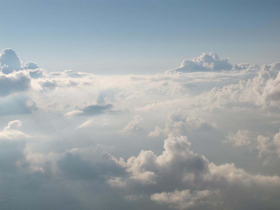 雲, スカイ, 天国, ホワイト, 厚い
