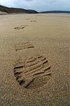 footprint, sand, track