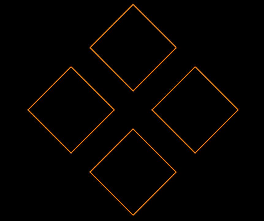 Four Diamonds Logo Icon Free Image On Pixabay