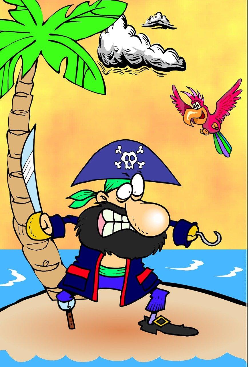 нашла рисунок пираты на острове уже собралась