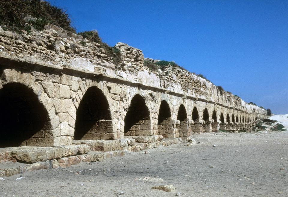 Israel, Caesarea, Architecture, Mediterranean, Landmark