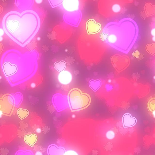 Free Illustration Hearts Bokeh Background Free Image