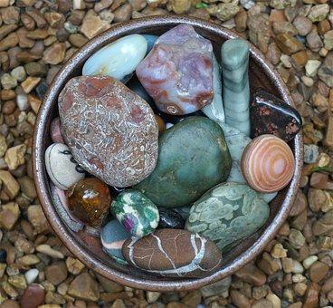 Handmade Bowl, Tumbled Stones, Stones
