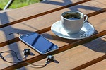 relaxation, coffee, smartphone