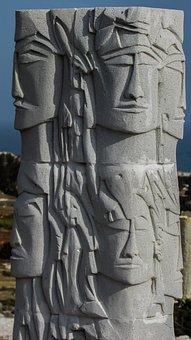 Cyprus, Ayia Napa, Sculpture Park, Faces