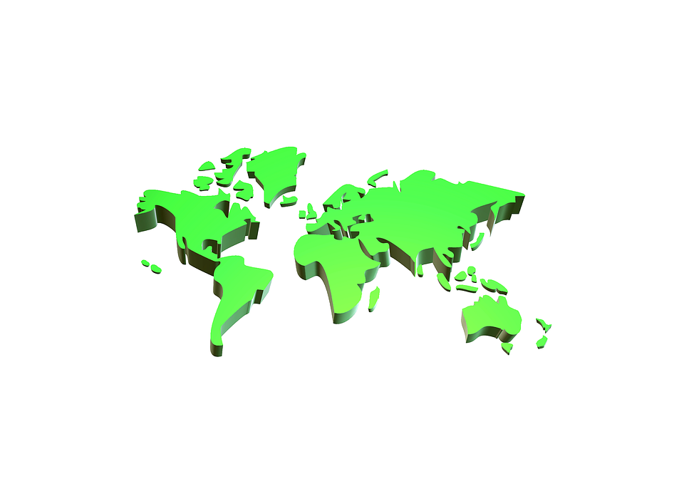 World Map 3d View.World 3d Continents Free Image On Pixabay
