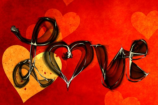 Font, Curlicue, Like, Love, Live, Scrawl