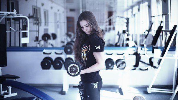 Girl In The Gym, Training Apparatus