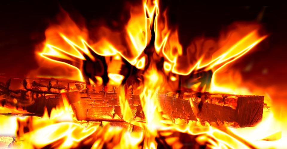 Fuoco, Fiamma, Di Calore, Caldo, Log, Bruciare, Marca