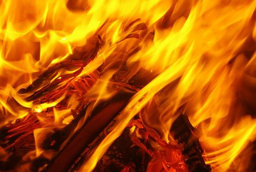 Fire Flame Embers Carbon Lighter Wood Bran