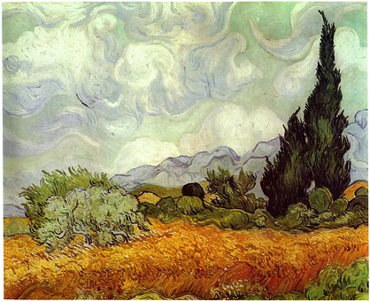 Van Gogh, Orange, Oil Painting, Van Gogh