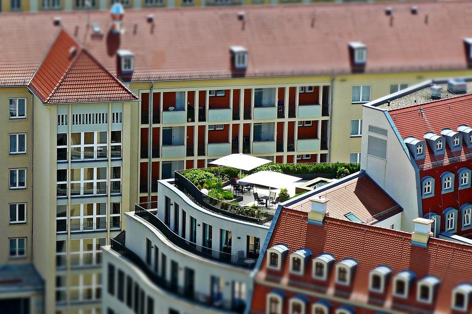 Dachterrasse, Architektur, Dresden, Stadtansicht