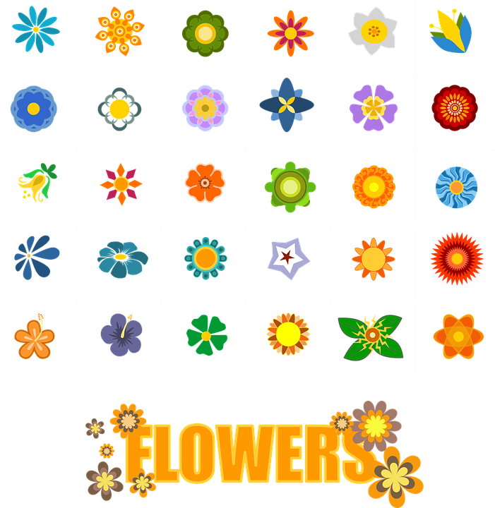 Flower Shapes Elements Free Vector Graphic On Pixabay