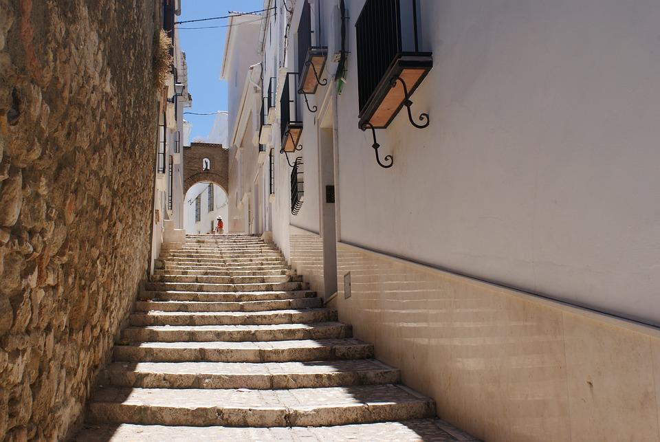 Street Ladder Staircase Street