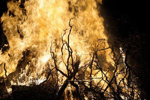 Fire, Flames, Bonfire, Burning, Border