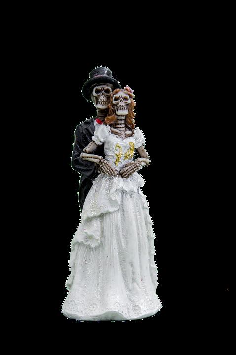 Free photo Bride And Groom Skeleton Gothic Free Image on
