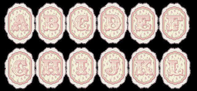 Shabby Chic Alphabet Tag 183 Free Image On Pixabay