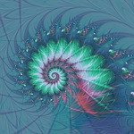 fractal, spiral, geometry